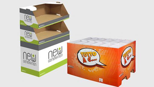 Espositore prodotti grande distribuzione