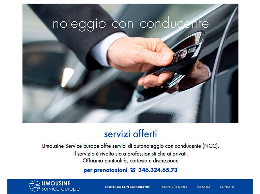 sito Limousine service europe
